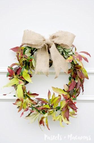 how to make a fresh leaf wreath for free