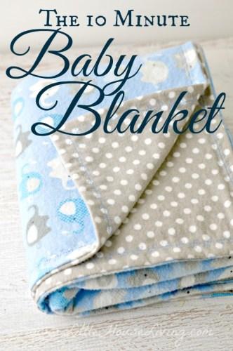 10 minute diy baby blanket