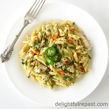 one pan penne pasta verde
