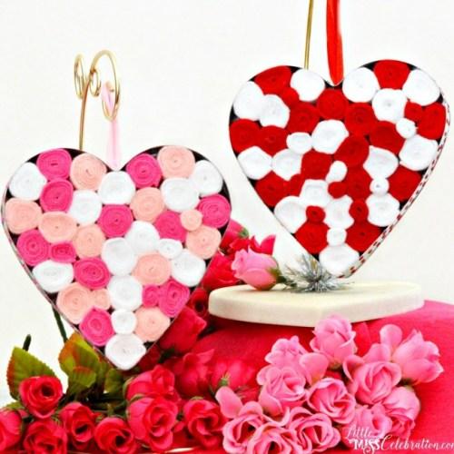 diy felt filled hearts
