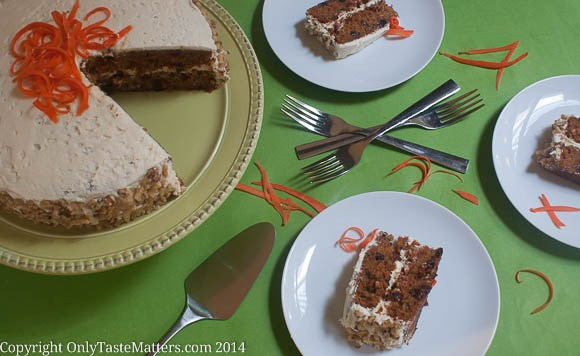 classic style carrot cake with cream cheese frosting