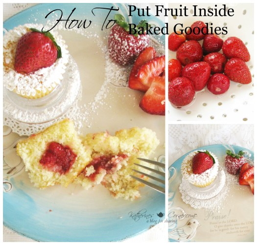 how to put fruit into baked goodies