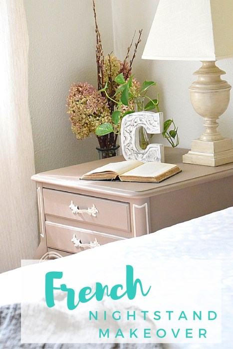 diy furniture makeover with French style