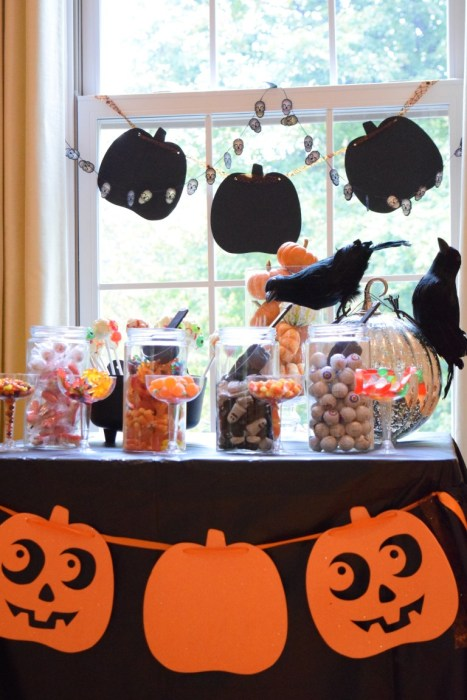 halloween candy station