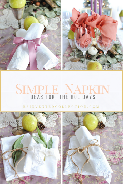 Simple Ideas For Styling Napkins
