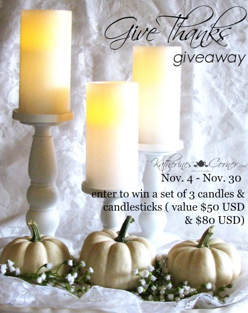 Autumn Vignette Give Thanks giveway
