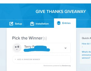 give thanks winner