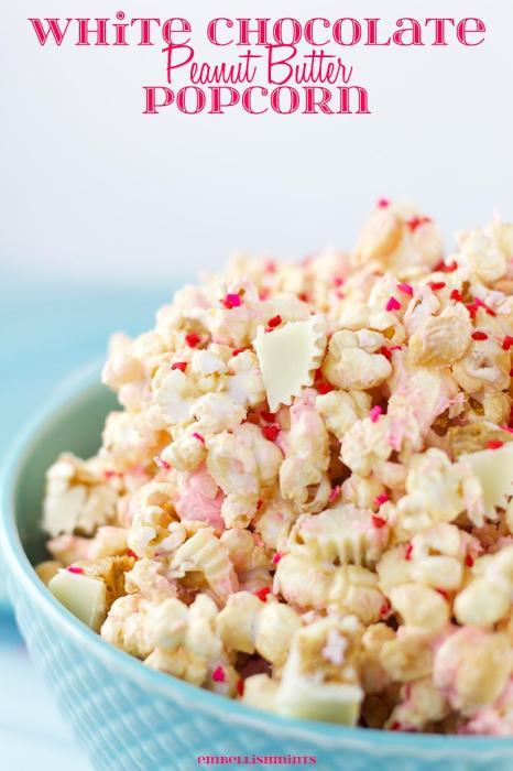 white chocolate peanut butter popcorn