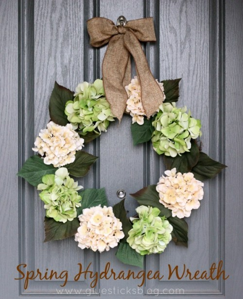 Spring diy wreath