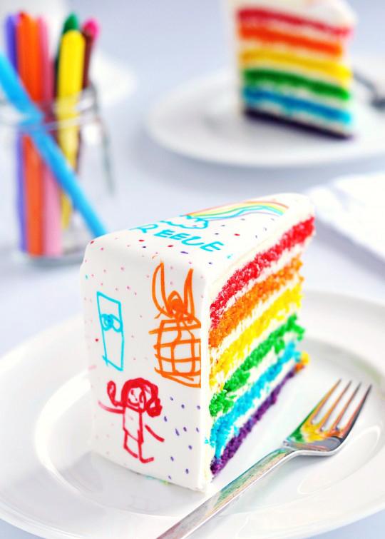 rainbow cake perfect for children