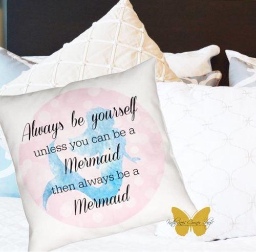 always be a mermaid pillow