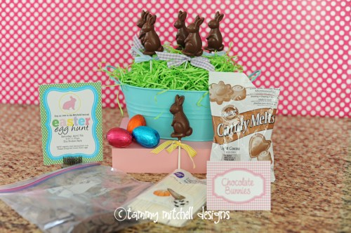 chocolate bunny pops