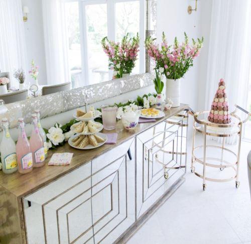 Easter buffet setting