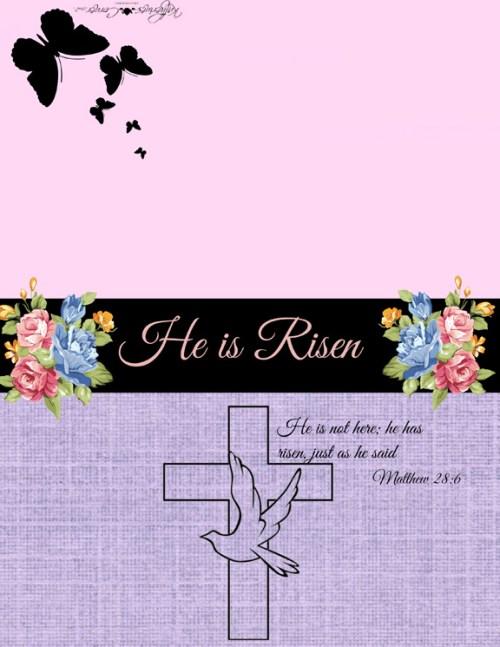 Easter printable greeting card