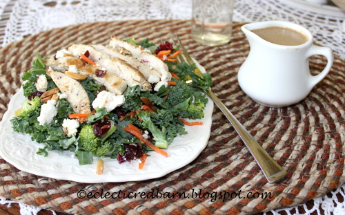 kale salad with Basil dressing
