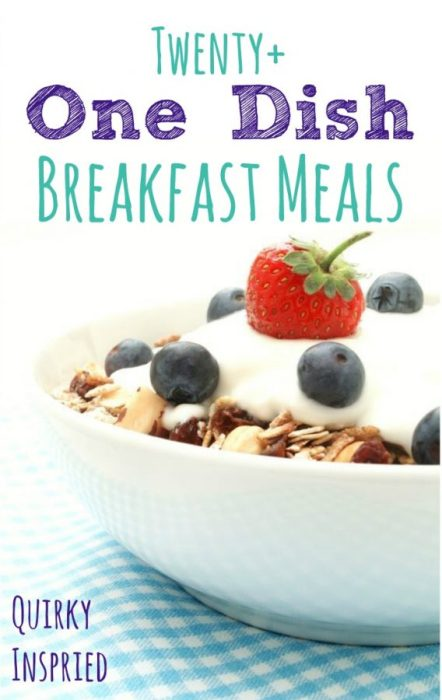 one dish breakfast meal recipes