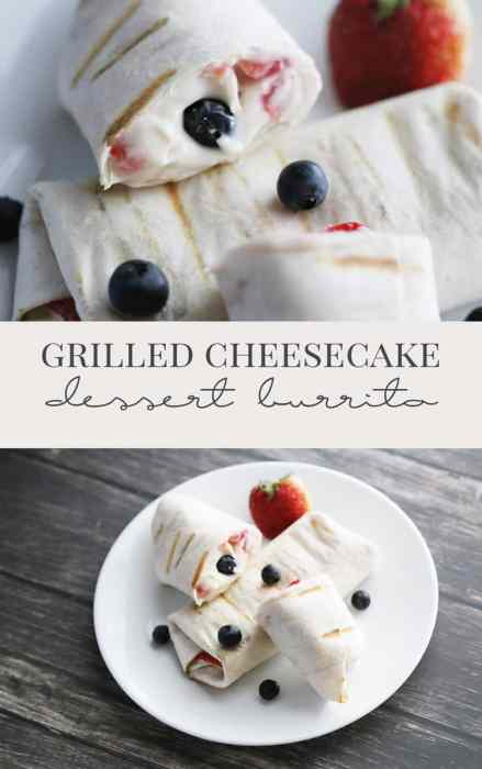 grilled dessert burritos