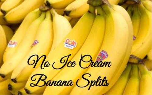 no ice cream banana splits
