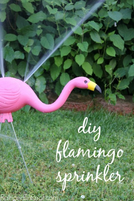 diy pink flamingo sprinkler