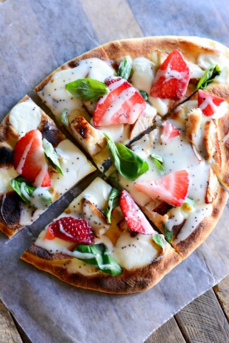 chicken and strawberry pizza