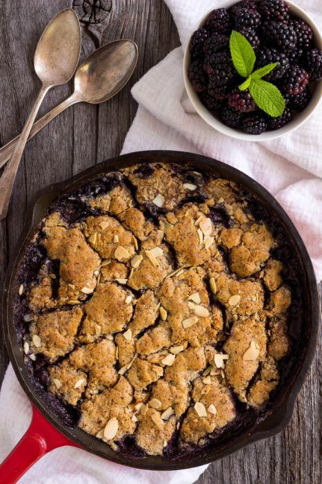 blackberry cobbler skillet style