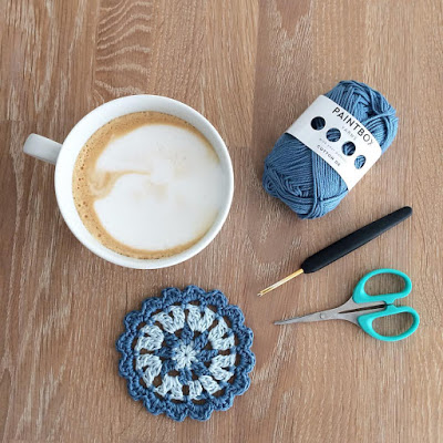 coffee or tea crochet coaster
