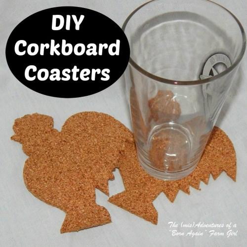 diy cork rooster coasters