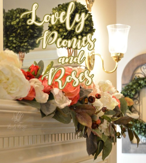 peonies and roses home decor