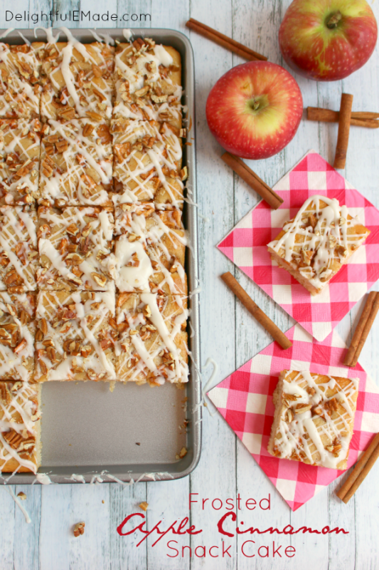 frosted apple cinnamon cake