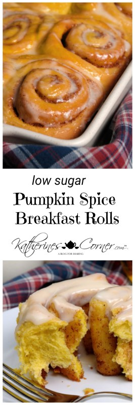 pin it low sugar pumpkin spice breakfast rolls