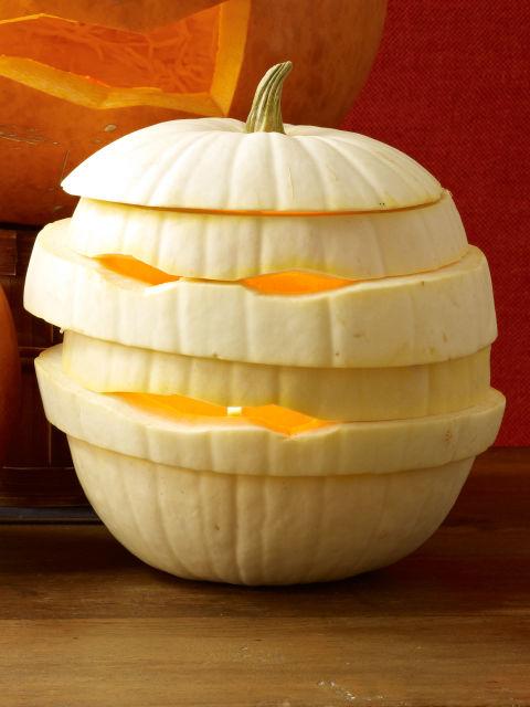 carved mummy pumpkin