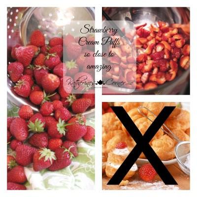 strawberry Cream Puffs so close to amazing