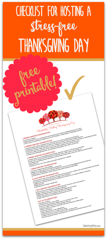 checklist for hosting a stress free thanksgiving