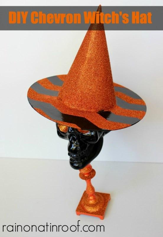 diy chevron witch hat