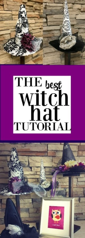diy witch hat and free printables