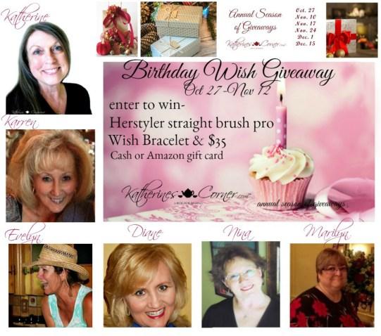 birthday wish giveaway hostesses