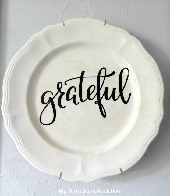 diy grateful plate