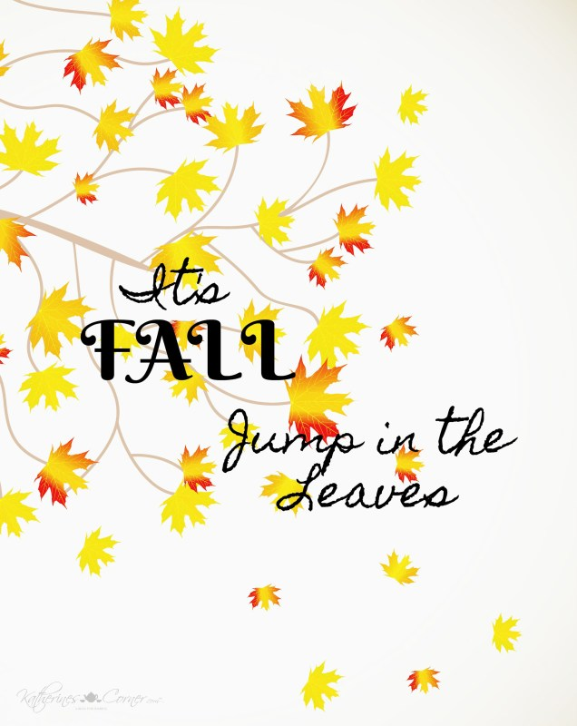 jump in leaves Free Printables 2017