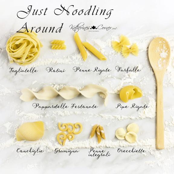 identifying types of pasta