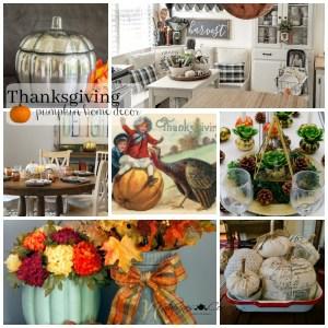 Thanksgiving pumpkin home decor