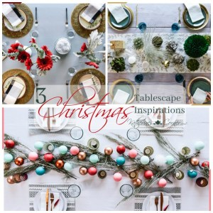 3 christmas tablescape inspirations