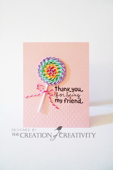 bakers twine lollipop card