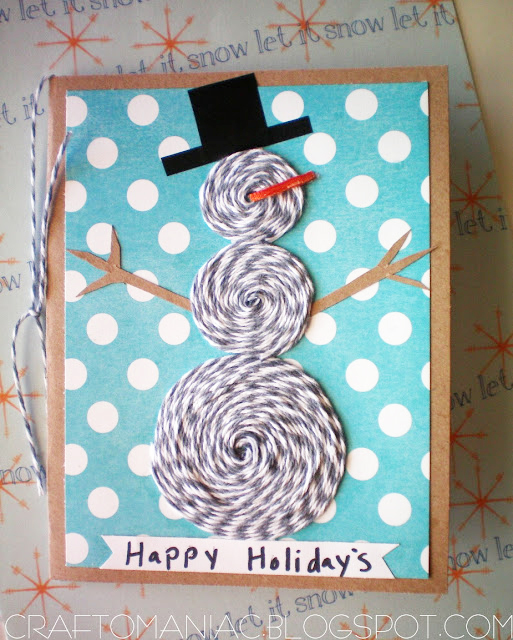 make a bakers twine snowman