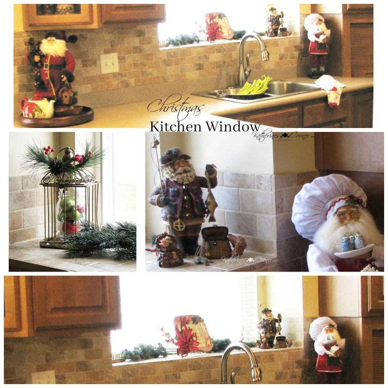 christmas on the kitchen windowsill