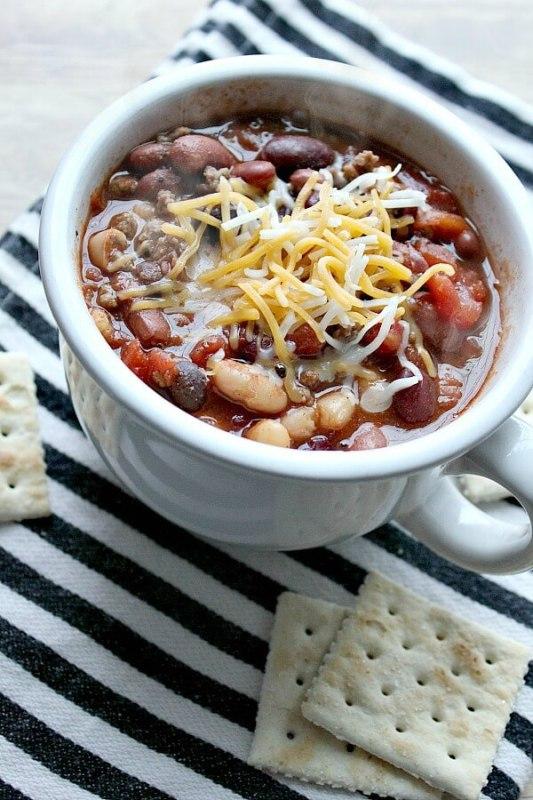 easy recipe five bean chili