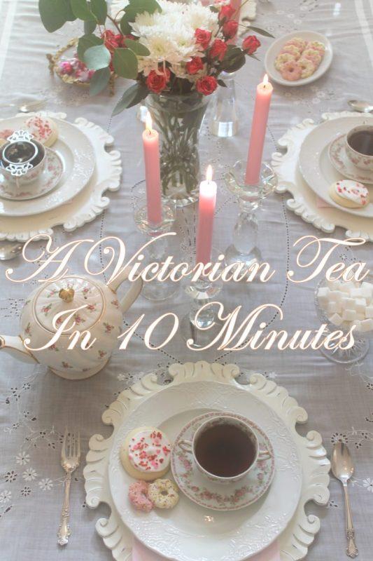 victorian tea party in ten minutes