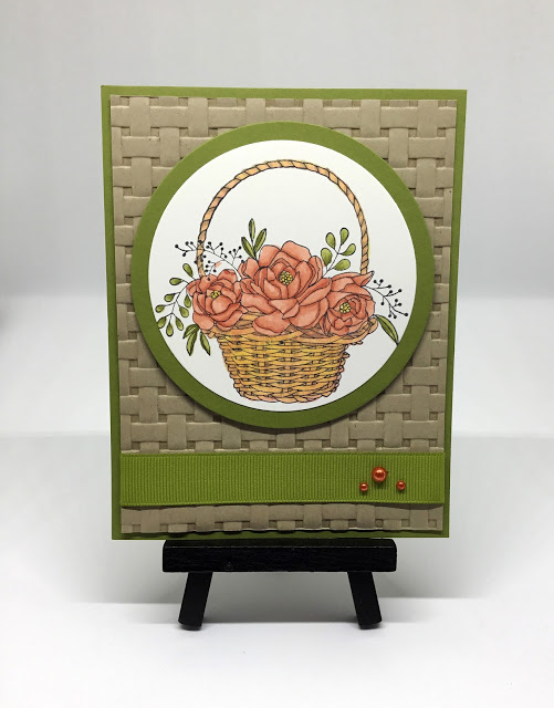 basket weave greeting card