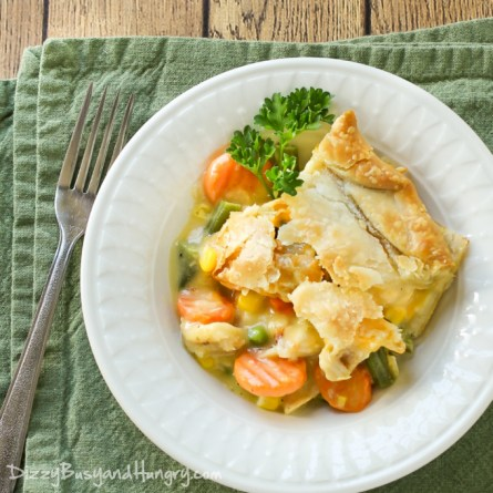 easy recipe for chicken pot pie