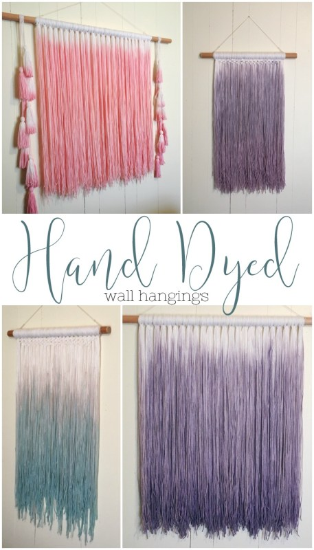 hand dyed wall hangings textile artwork