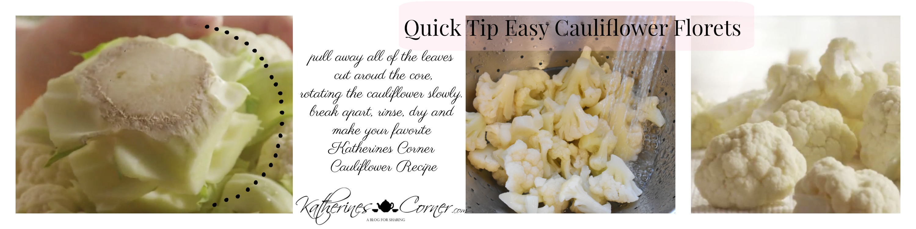 what cooks know easy cauliflower florets